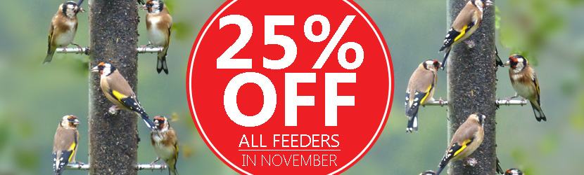 25% off bird feeders